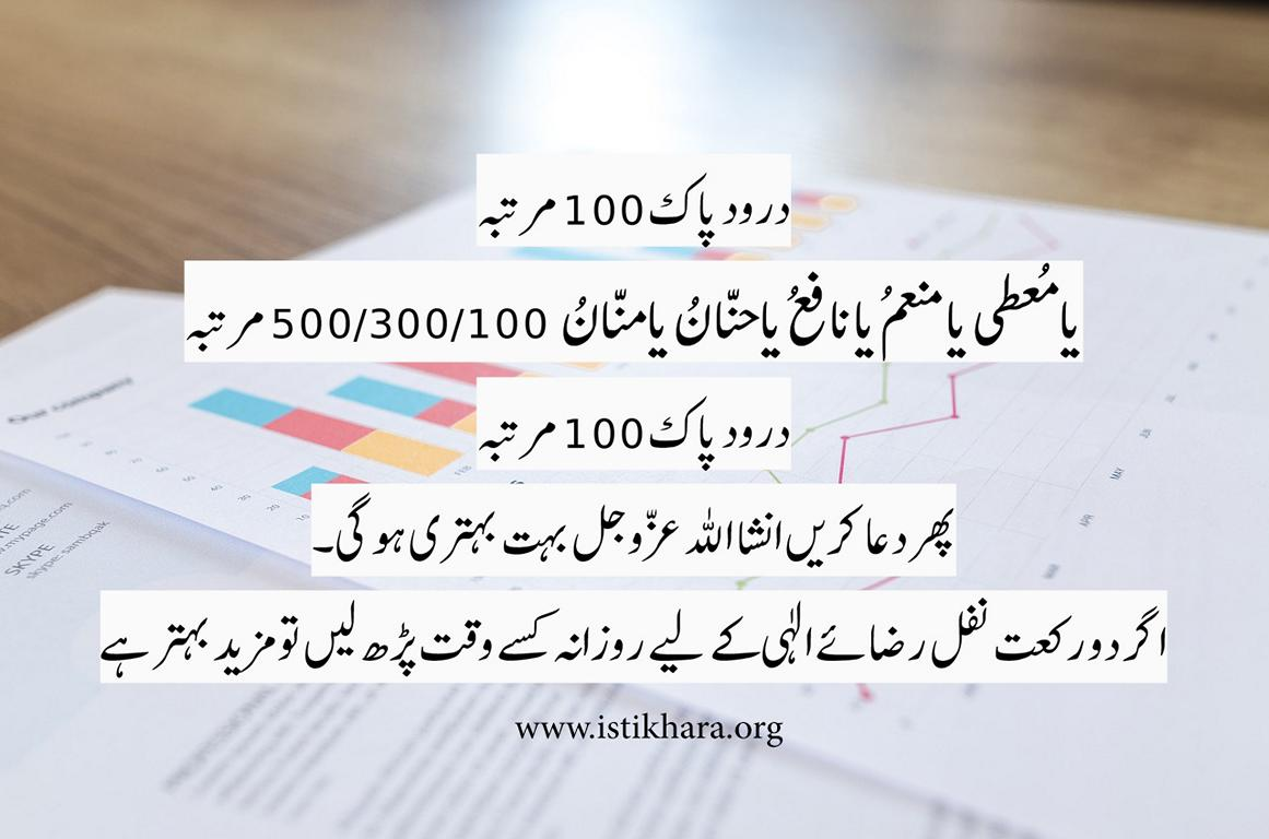 WAZIFA FOR SUCCESS
